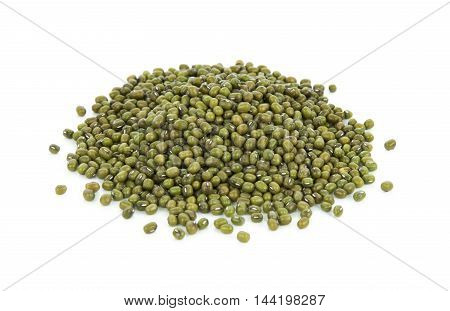 Mung beans isolated on white background green