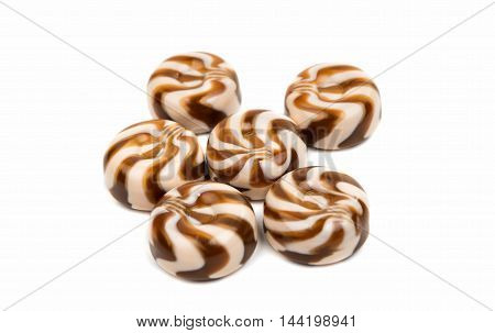 dessert food candy on a white background
