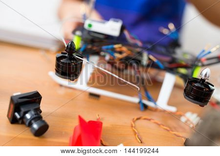 Building of flying drone at home