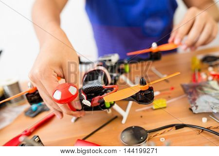 Building of drone