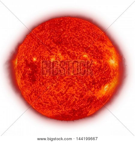 Solar System - Sun. Isolated Planet On White Background.