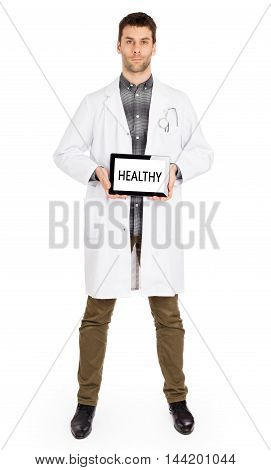 Doctor Holding Tablet - Healthy