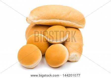 fast food buns on a white background