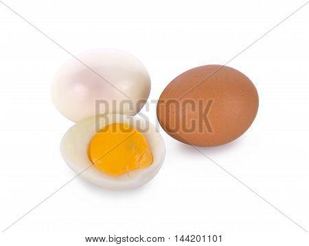 Boiled egg isolated on white background food