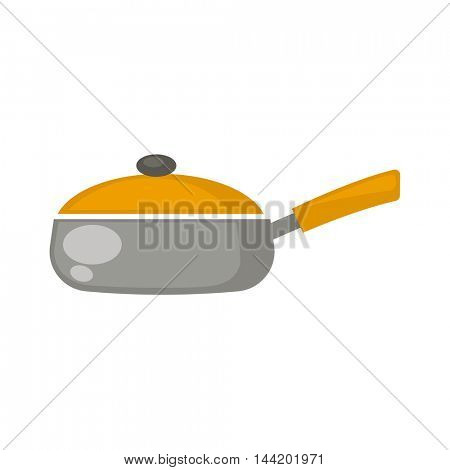 Frying pan. Vector Illustration. Isolated on white background