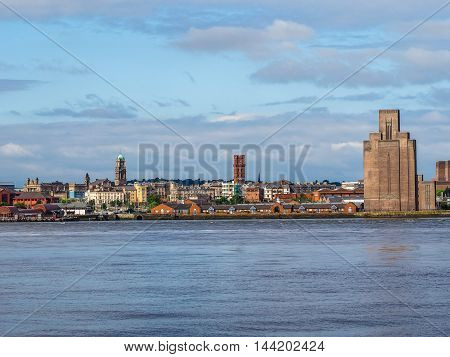 View Of Birkenhead In Liverpool Hdr