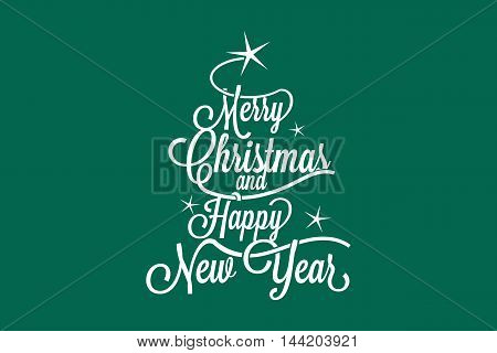 Merry Christmas and Happy New Year greetings postcard