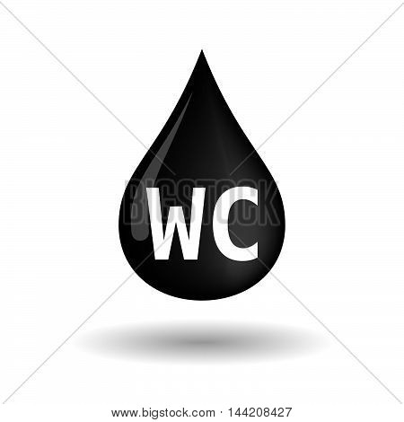 Isolated Oil Drop Icon With    The Text Wc