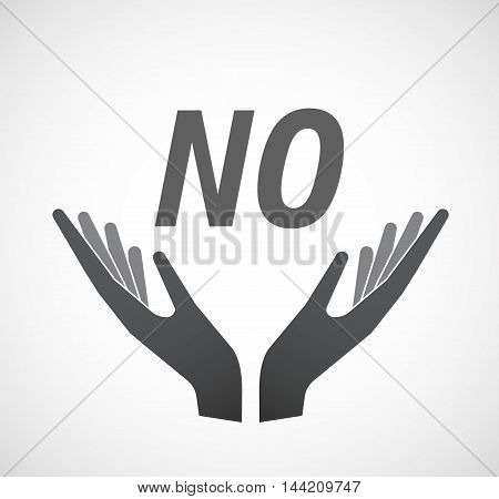 Isolated Hands Offering Icon With    The Text No