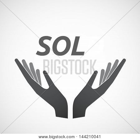 Isolated Hands Offering Icon With    The Text 18+