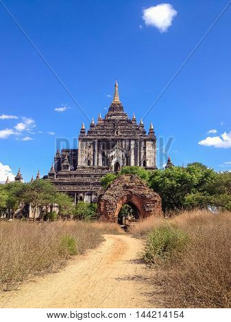 Old Temple and pagoda in Bagan Myanmar