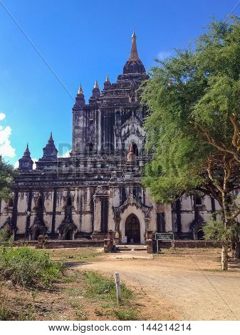 Old ruins Pagoda of Bagan city, Myanmar