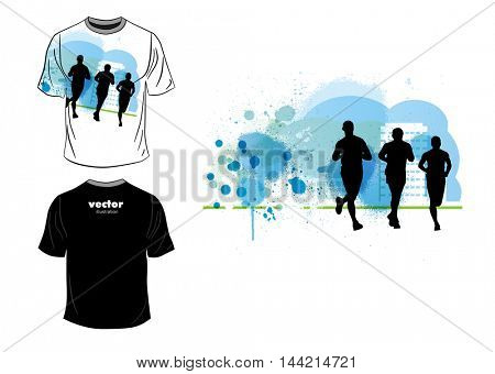 T-shirt design. Vector