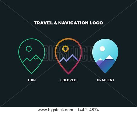 GPS logo. GPS vector. GPS icon. Navigation vector logo. Navigation vector icon. Travel logo. Travel icon. Travel vector logo. Travel vector. GPS logo. GPS icon. Navigation logo set