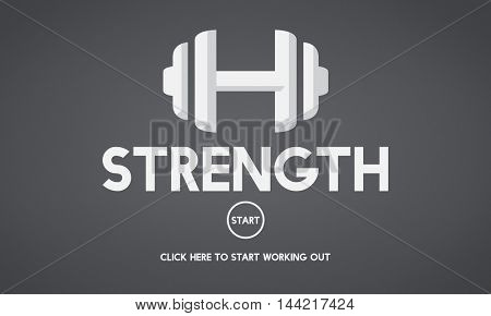 Strength Healthy Exercise Sport Activity Concept