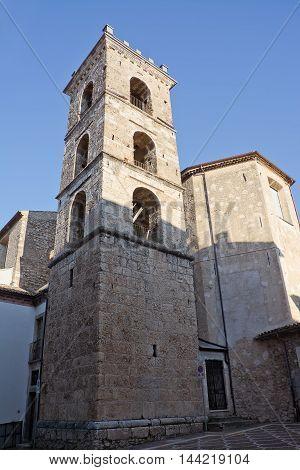 Belfry of church of Saint Maria Major in Raiano