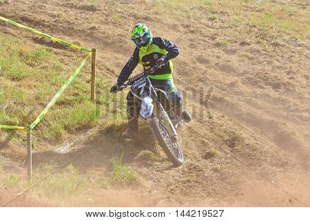 Motocross In Sariego, Spain.