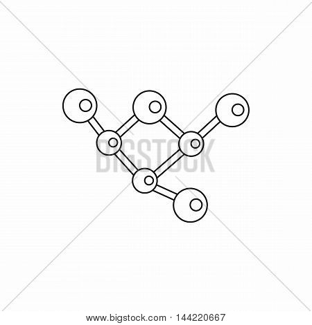 Structure molecule icon in outline style isolated on white background