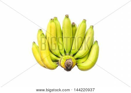 Bunch of ripe banana isolated on white background
