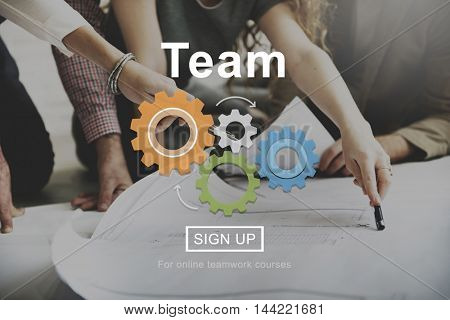 Team Teamwork Collaboration Connection Unity Concept