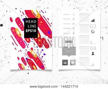 Annual report brochure template, Leaflet cover presentation, Flyer abstract flat background design, A4 layout vector.