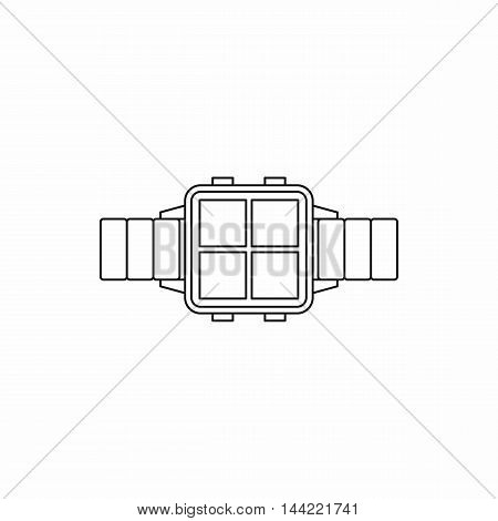 Smart watch icon in outline style isolated on white background