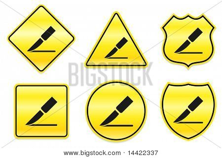 Scalpel Icon on Yellow Designs Original Illustration