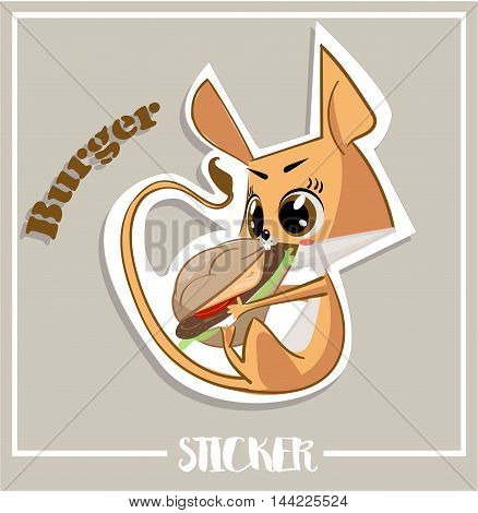 Vector illustrated characters of Jerboa. stickers with emotions