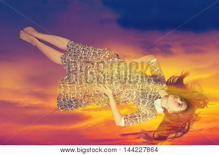 Girl Flying In A Dream