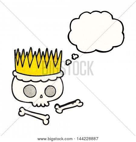 freehand drawn thought bubble textured cartoon crown