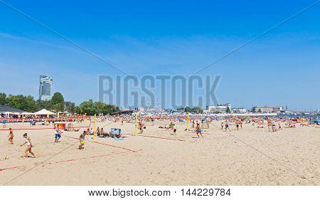 Municipal Beach In Gdynia, Baltic Sea, Poland