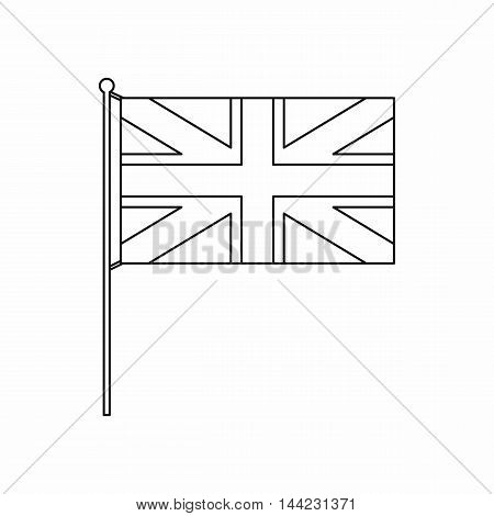 UK flag icon in outline style isolated on white background. State symbol