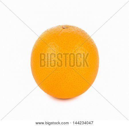 Ripe orange isolated on white background fruit