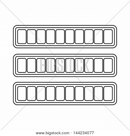 Sign horizontal columns download online icon in outline style isolated on white background. Loading symbol