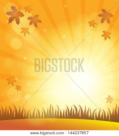 Autumn sky theme background 6 - eps10 vector illustration.