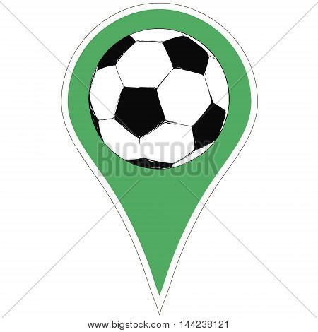 Sticker the pointer soccer ball. the football championship in Europe, the vector for print or website design