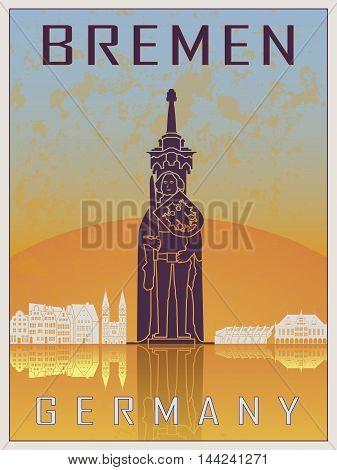 Bremen Vintage Poster