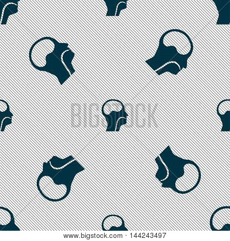 Larynx, Medical Doctors Otolaryngology Sign. Seamless Pattern With Geometric Texture. Vector