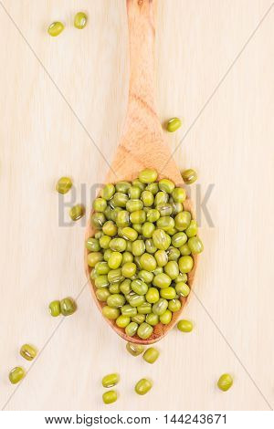 Mung Bean On The Spoon