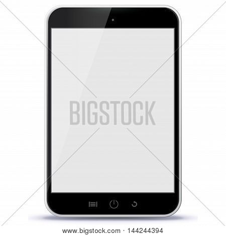 Black Tablet Computer Vector Illustration isolated on white.