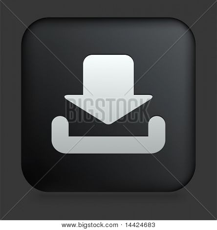 Download Icon op zwarte, vierkante Internet knop originele illustratie