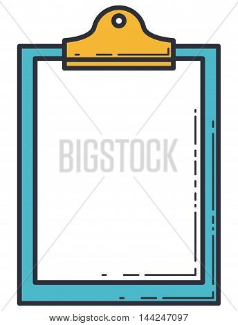 clipboard paper isolated icon vector illustration design