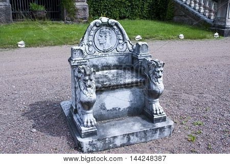Malmgard, Finland. Throne at the Manor House