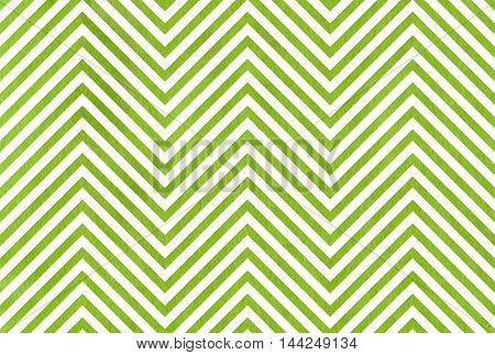 Watercolor Green Stripes Background, Chevron.