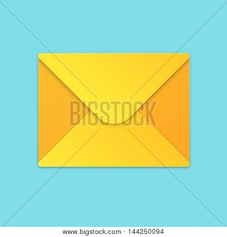 Minimalistic Vector Yellow Mail or Email Icon