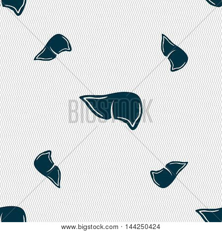 Liver Sign. Seamless Pattern With Geometric Texture. Vector
