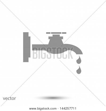 Faucet icon, vector best flat icon EPS