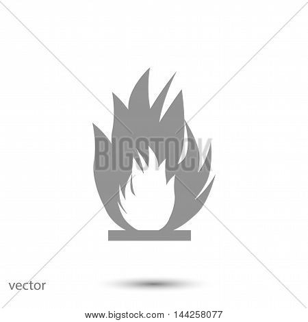 fire icon, vector best flat icon EPS