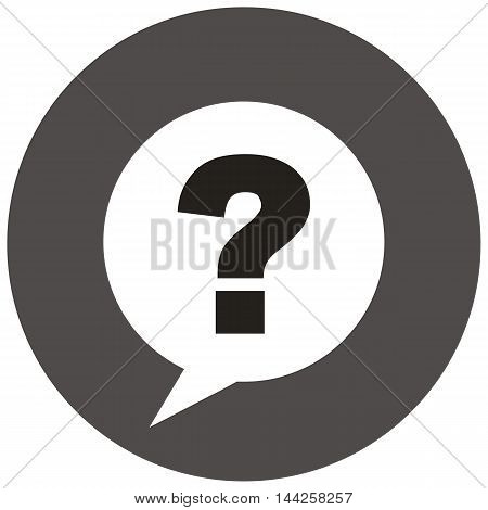 Question mark sign icon ask speech stamp seal mark icon creative