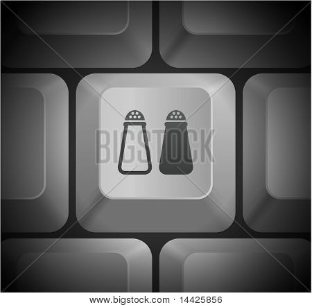 Salt and Pepper Icon on Computer Keyboard Original Illustration